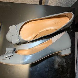 J. Crew Harper Patent Bow Tie heels